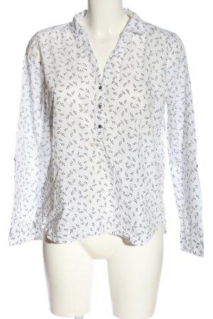 C&A Yessica Koszulowa bluzka biały-czarny Abstrakcyjny wzór W stylu casual