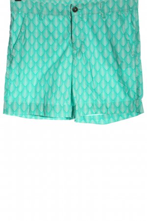 C&A Yessica Hot Pants turquoise-white allover print casual look