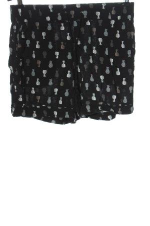 C&A Yessica Short moulant noir-gris clair imprimé allover style décontracté