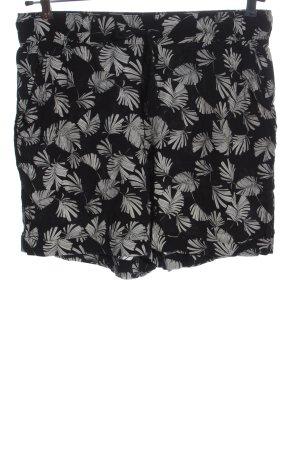 C&A Yessica Hot Pants schwarz-weiß Blumenmuster Casual-Look