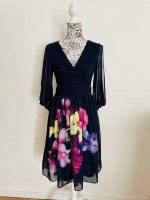 C&A Yessica Robe mi-longue bleu foncé-violet