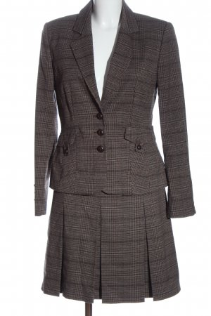 C&A Yessica Ladies' Suit brown-natural white allover print business style