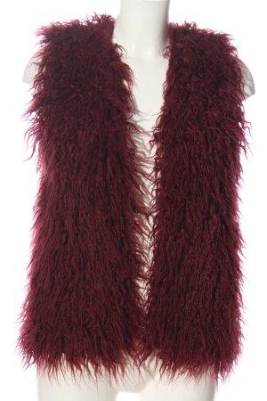 C&A Yessica Chaleco de piel sintética rojo elegante