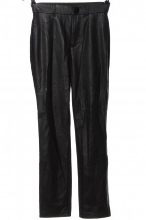 C&A Yessica Faux Leather Trousers black casual look