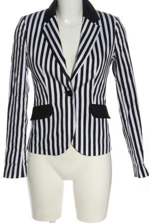 C&A Yessica Short Blazer white-black allover print business style