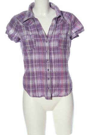 C&A Yessica Shirt met korte mouwen lila-wit volledige print zakelijke stijl