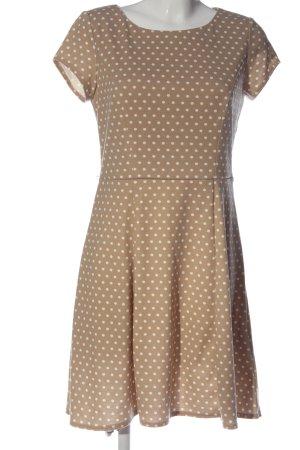 C&A Yessica Sukienka z krótkim rękawem brązowy-biały Na całej powierzchni