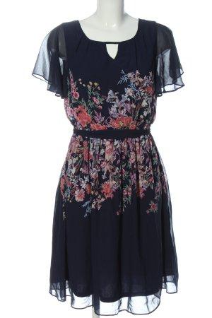 C&A Yessica Sukienka z krótkim rękawem niebieski Wzór w kwiaty Elegancki