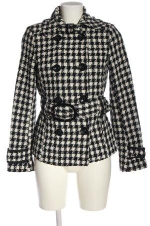 C&A Yessica Krótki płaszcz w kolorze białej wełny-czarny W stylu casual