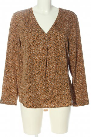 C&A Yessica Langarm-Bluse braun Allover-Druck Business-Look