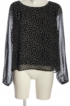 C&A Yessica Langarm-Bluse schwarz-weiß Punktemuster Casual-Look