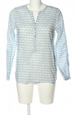 C&A Yessica Long Sleeve Blouse white-blue abstract pattern business style