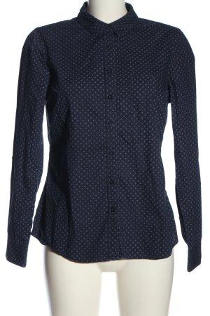 C&A Yessica Langarmhemd blau-weiß Business-Look