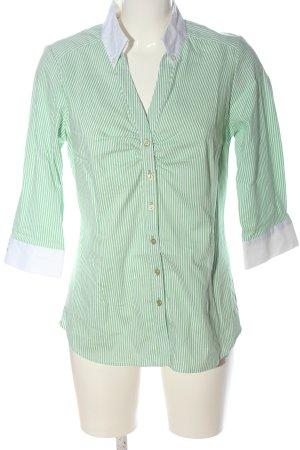 C&A Yessica Langarmhemd grün-weiß Streifenmuster Casual-Look