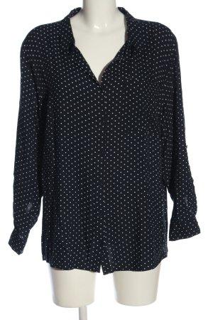 C&A Yessica Langarmhemd schwarz-weiß Punktemuster Casual-Look