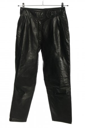 C&A Yessica Leather Trousers black casual look