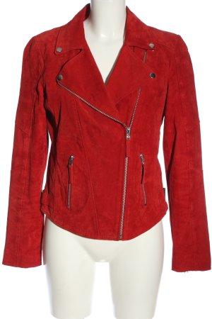 C&A Yessica Veste en cuir rouge style décontracté