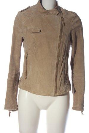C&A Yessica Skórzana kurtka brązowy W stylu casual