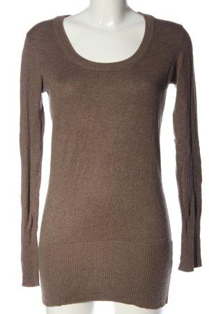 C&A Yessica Długi sweter brązowy Melanżowy W stylu casual