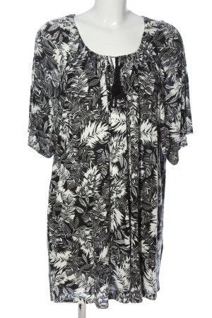 C&A Yessica Długa koszulka czarny-w kolorze białej wełny W stylu casual