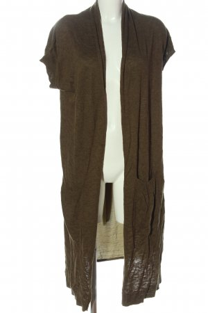 C&A Yessica Long Knitted Vest brown casual look