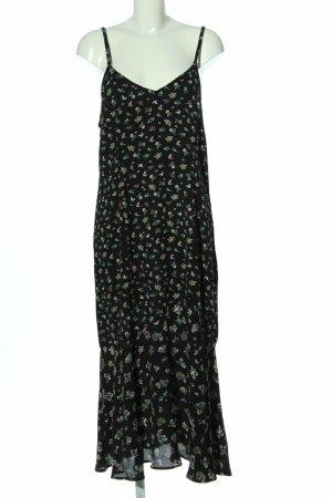 Yessica Robe longue noir-violet coton