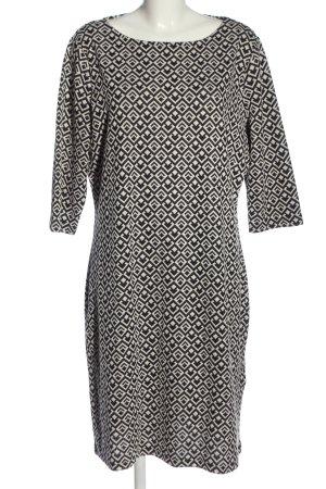 C&A Yessica Sukienka midi biały-czarny Na całej powierzchni W stylu casual