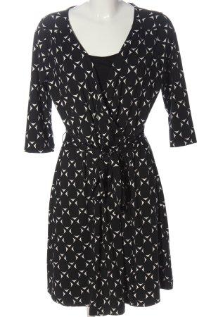 C&A Yessica Midi Dress black-white allover print casual look