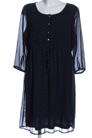 C&A Yessica Sukienka midi niebieski-biały Na całej powierzchni