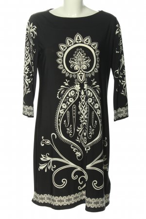 C&A Yessica Midi Dress black-white abstract pattern casual look