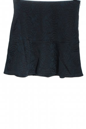 C&A Yessica Miniskirt blue-black allover print casual look