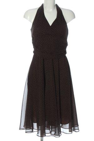 C&A Yessica Robe dos-nu brun-blanc motif de tache style décontracté