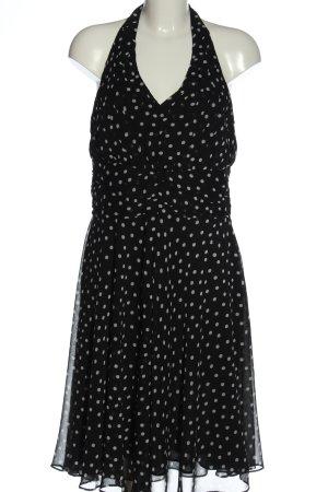 C&A Yessica Halter Dress black-light grey spot pattern elegant