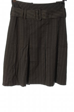 C&A Yessica Pleated Skirt black-light grey striped pattern casual look