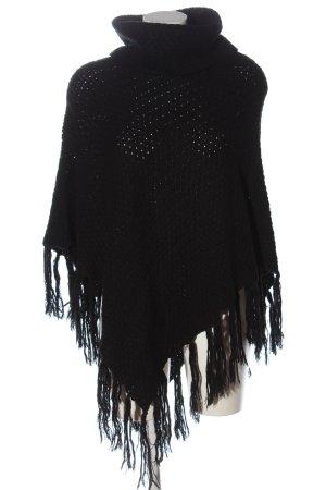 C&A Yessica Ponczo czarny Warkoczowy wzór W stylu casual