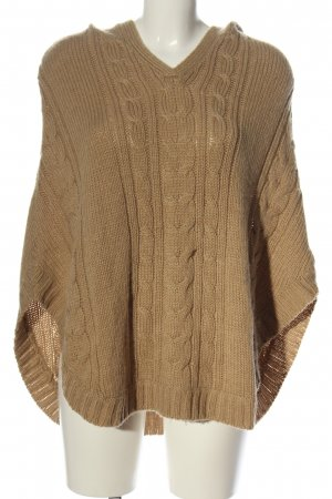 C&A Yessica Poncho brown cable stitch casual look