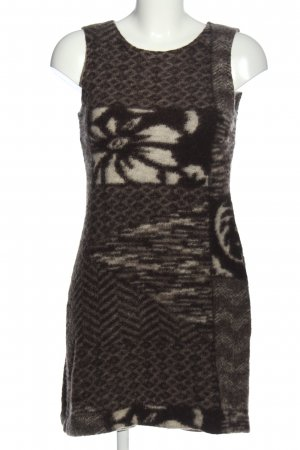 C&A Yessica Pulloverkleid braun-wollweiß abstraktes Muster Casual-Look