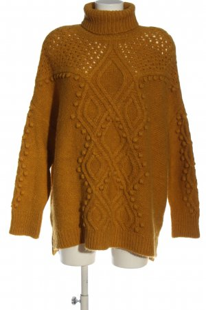 C&A Yessica Sweter z golfem jasny pomarańczowy Warkoczowy wzór W stylu casual