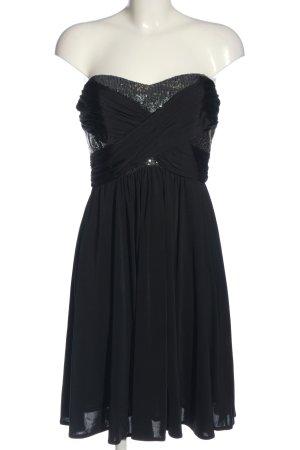 C&A Yessica schulterfreies Kleid schwarz Glanz-Optik