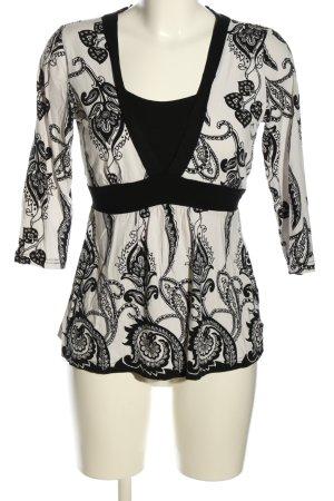 C&A Yessica Shirttunika weiß-schwarz abstraktes Muster Casual-Look