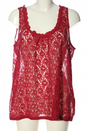 C&A Yessica Koronkowa bluzka czerwony Siateczkowy wzór W stylu casual