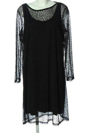 C&A Yessica Robe en dentelle noir motif léopard élégant