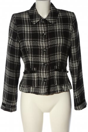 C&A Yessica Knitted Blazer black-white allover print casual look
