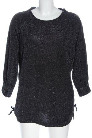 C&A Yessica Strickshirt schwarz-silberfarben meliert Casual-Look