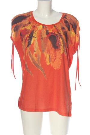 C&A Yessica Strickshirt rot Motivdruck Casual-Look