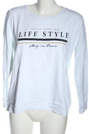 C&A Yessica Sweatshirt weiß Schriftzug gedruckt Casual-Look