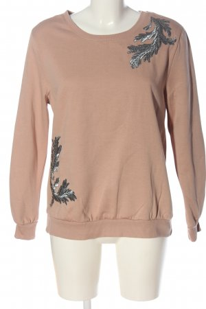 C&A Yessica Sweat Shirt pink-light grey themed print casual look