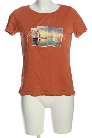 C&A Yessica T-Shirt hellorange Motivdruck Casual-Look