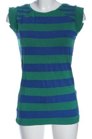 C&A Yessica T-Shirt blau-grün Streifenmuster Casual-Look