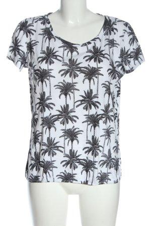 C&A Yessica T-Shirt weiß-schwarz Allover-Druck Casual-Look